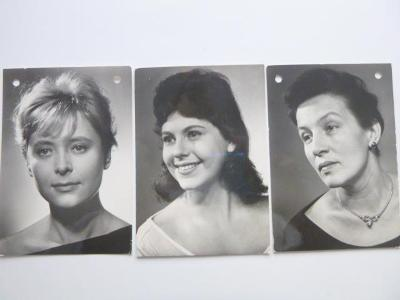 3xJANA KASANOVÁ MIRIAM HYNKOVÁ DANA MEDŘICKÁ známka razítko PRAGA 1968