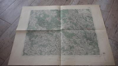 Stará vojenská mapa 1931-Polička-Město Žďár-Nové Město na Moravě