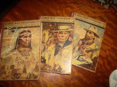 Stará kniha - 3x. Karel MAY - VINNETOU.