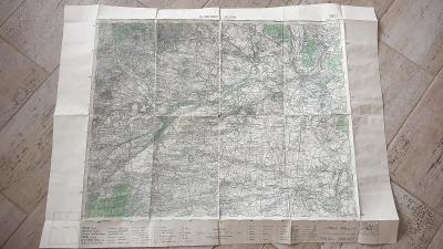 Stará vojenská mapa 1935-Roudnice nad Labem-Velvary-Třebenice