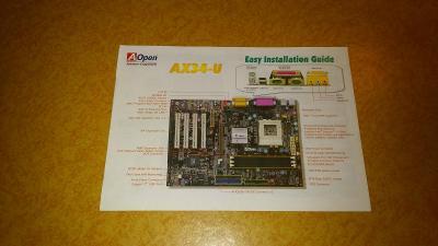 Návod na instalaci desky AOpen AX34-U