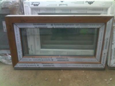 Plastová okna ( plastové okno ) 90x50 zlatý dub
