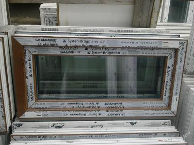 Plastová okna ( plastové okno ) 100x50 zlatý dub
