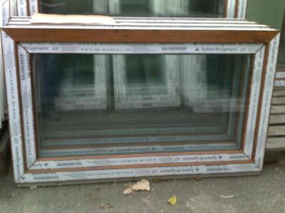 Plastová okna ( plastové okno ) 120x70 zlatý dub