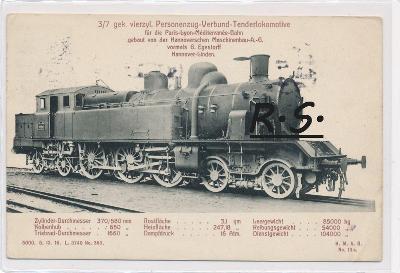 Lokomotiva - 1913  , železnice   , /FX/