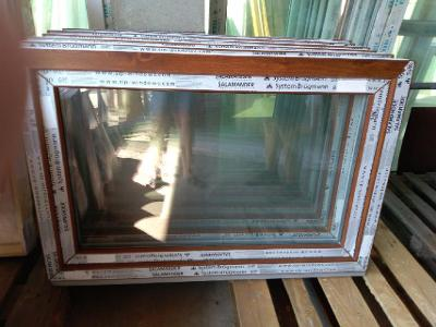 Plastová okna ( plastové okno ) 120x80 zlatý dub