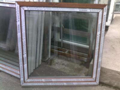 Plastová okna ( plastové okno ) 120x120 zlatý dub