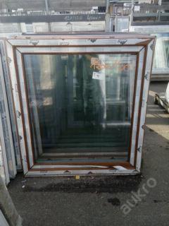 Plastová okna ( plastové okno ) 120x130 zlatý dub