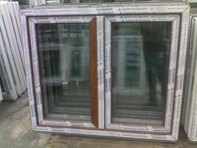 Plastová okna ( plastové okno ) 120x100 zlatý dub