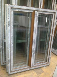 Plastová okna ( plastové okno ) 120x150 zlatý dub