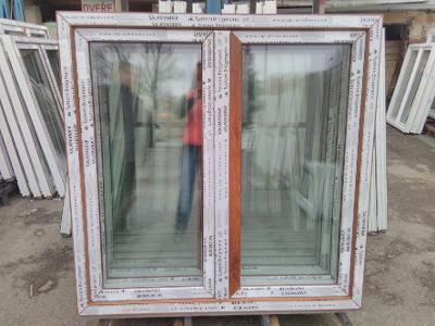 Plastová okna ( plastové okno ) 130x130 zlatý dub