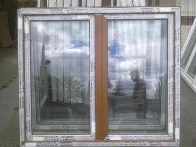 Plastová okna ( plastové okno ) 150x130 zlatý dub