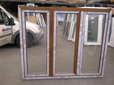 Plastová okna ( plastové okno ) 180x150 zlatý dub