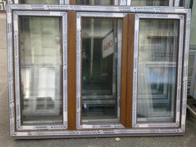 Plastová okna ( plastové okno ) 180x130 zlatý dub