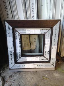 Plastová okna ( plastové okno ) 40x40 tmavý dub