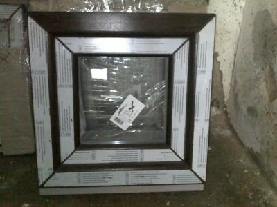 Plastová okna ( plastové okno ) 50x50 tmavý dub