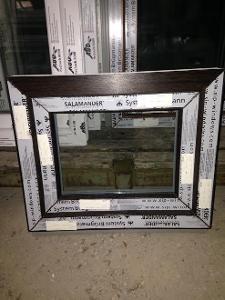 Plastová okna ( plastové okno ) 60x50 tmavý dub