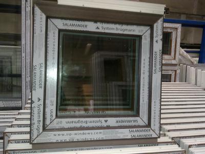 Plastová okna ( plastové okno ) 60x60 tmavý dub