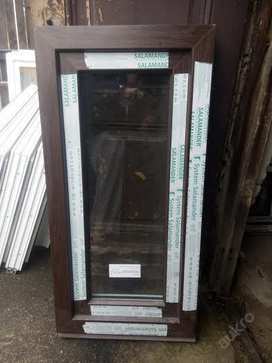 Plastová okna ( plastové okno ) 50x100 tmavý dub