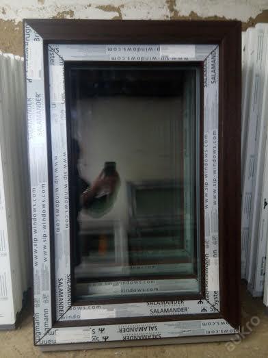Plastová okna ( plastové okno ) 60x90 tmavý dub