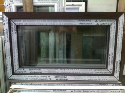 Plastová okna ( plastové okno ) 100x60 tmavý dub