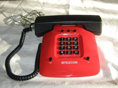 Telefon ISKRA červeno-černý