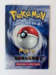 Raritní pravidla prosběratele TCG Pokémon verze 2 anglicky