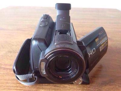 Sony FullHD kamera s EVF +stanice, nabíječka, filtry a další