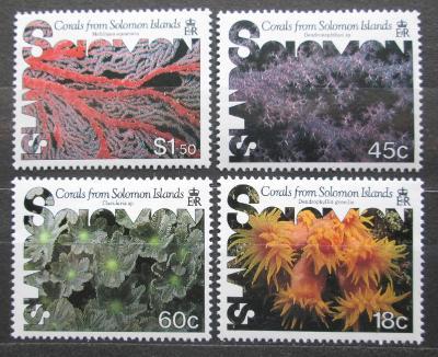 Šalamounovy ostrovy 1987 Korály Mi# 633-36 Kat 7€ 0018