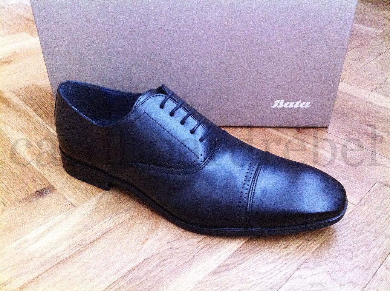 Luxusní černé kožené společenské pánské boty zn. Baťa | Aukro