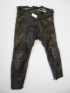 Kožené kalhoty HARRO- vel. 52/L, chrániče kolen