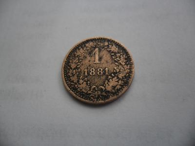 1 Krejcar 1881 Zachovalí.! R.U.