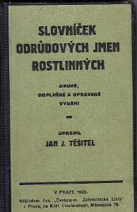 SLOVNÍČEK ODRŮDOVÝCH JMEN ROSTLINNÝCH-JAN.J.TĚŠITEL