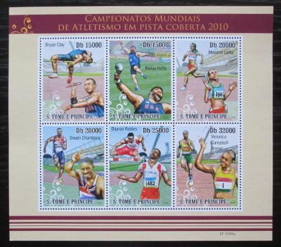 Svatý Tomáš 2010 Halové MS v lehké atletice Mi# 4529-34 Kat 12€ 1867