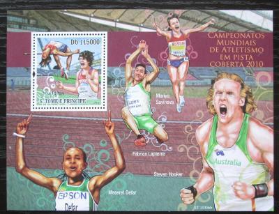 Svatý Tomáš 2010 Halové MS v lehké atletice Mi# Block 778 Kat 11€ 1867