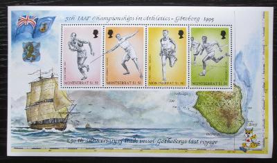 Montserrat 1995 MS v lehké atletice Mi# Block 70 Kat 10€ 1893
