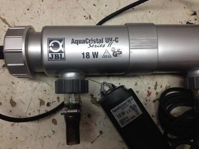 Zánovní sterilizator vody JBL Aquacrystal 18W