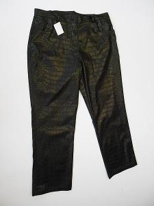 Koženkové kalhoty dámské- vel. 48, vzorované