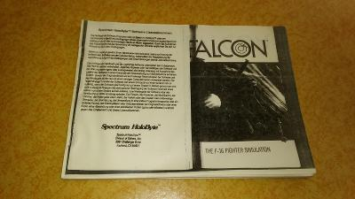 Kopie návodu ke hře F16 Falcon