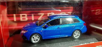 Seat Ibiza ST combi 1:43 modrá