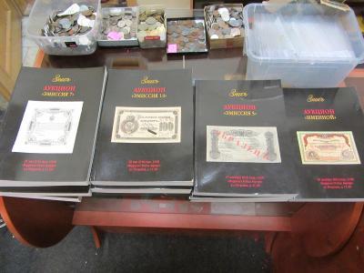RUSKO Sada aukčních katalogů firmy Znak, Bankovky, Moskva, 12 kus