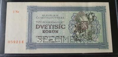"""2000 Korún 1945 """"1Ne"""""""