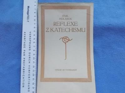 Církev Emil Holárek Reflexe z Katechismu reklamní leták na titul