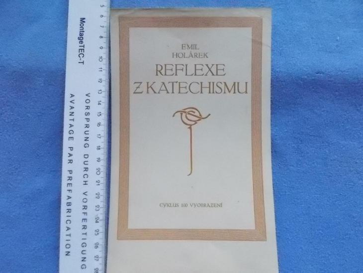 Církev Emil Holárek Reflexe z Katechismu reklamní leták na titul  - Antikvariát