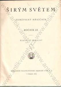 Širým světem řídí Dr. St. Nikolau 1932 Praha
