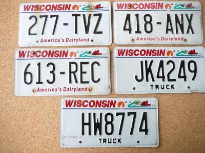 USA SPZ, 5x Wisconsin originál...