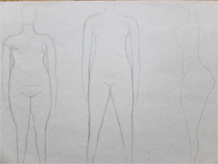 FRINTA EMANUEL 1929 AKT 5 1964 STUDIE TĚLA KRESBA SIGNOVÁNO - Umění