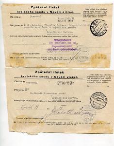 LIPNÍK NAD BEČVOU- ZPÁTEČNÍ LÍSTKY 1931 /AG - 78