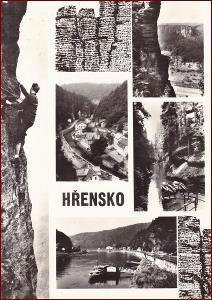 Hřensko * horolezec, okénková * Děčín (České Švýcarsko) * V1044
