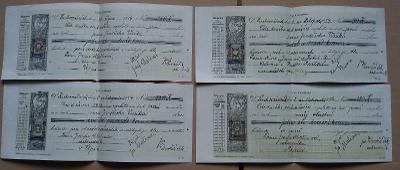 4 x stvrzenka - Suchovršice - Úpice - 1914